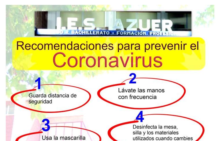 Normas Covid-19 del IES Azuer