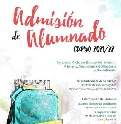 Admisión 2º ciclo de Infantil, Primaria, ESO y Bachillerato
