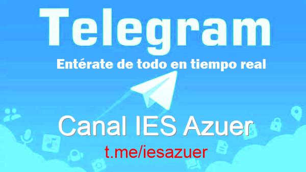 Nuevo canal Telegram del IES Azuer