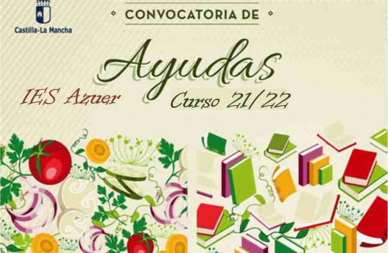 Convocatoria de ayudas – Comedores escolares y Libros de texto. Curso 2021/2022