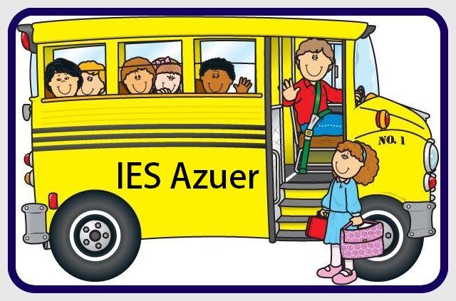 Autobuses para alumnos del IES Azuer curso 21/22